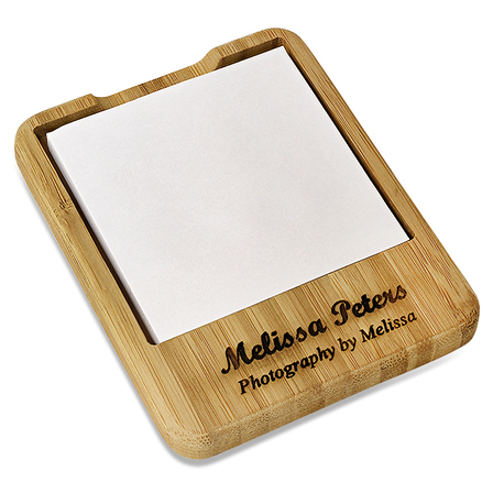 Bamboo Desktop Notepad Holder