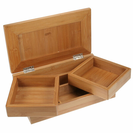 Bamboo Desktop Stationery & Organizer Box
