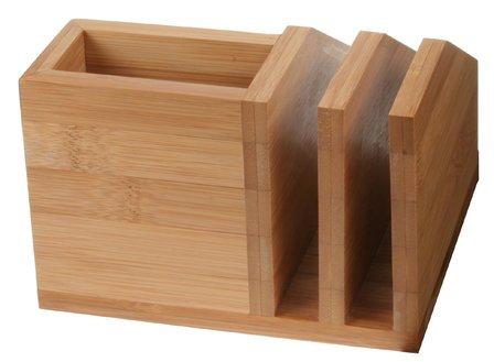 Bamboo Letter File & Desktop Organizer