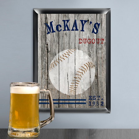 Baseball  Man Cave Sign - Free Personalization