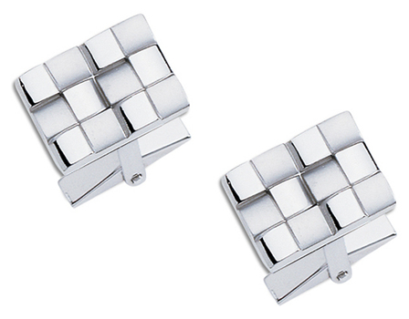 Basketweave Collection Sterling Silver  Cufflinks
