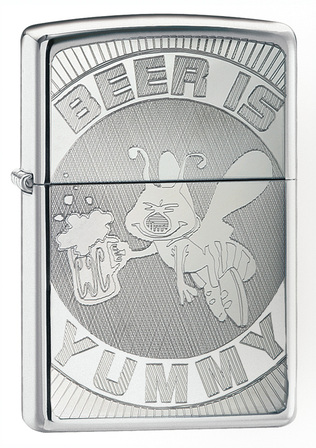 Beer Is Yummy Zippo Lighter -  Discontinued