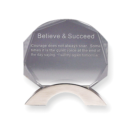 Believe & Succeed - Inspirational Desk Sculpture