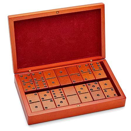 Birch Wood Personalized Domino Set - Discontinued
