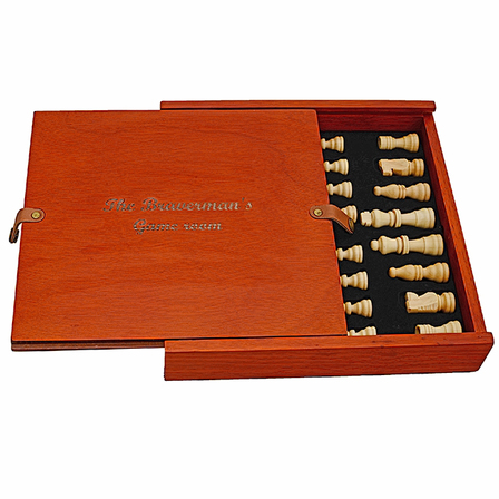 Birch Wood Personalized Chess/Backgammon/Checkers Set