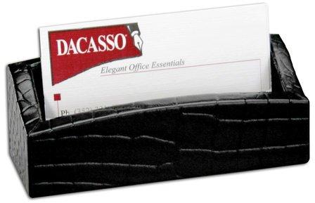 Black Crocodile Embossed Business Card Holder