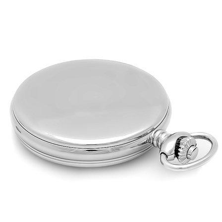 Black Dial Quartz Charles Hubert Pocket Watch & Chain #3599-B