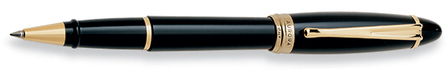 Black & Gold Rollerball Pen by Aurora