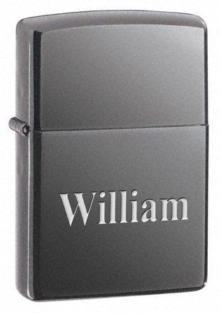 Black Ice Engraved Zippo Lighter - Free Engraving - ID# 150