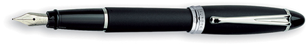 Black & Silver Fountain Pen by Aurora