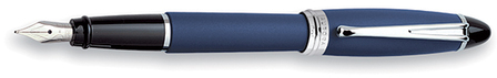 Blue & Silver Fountain Pen by Aurora