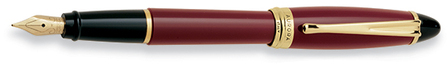 Bordeaux & Gold Fountain Pen by Aurora