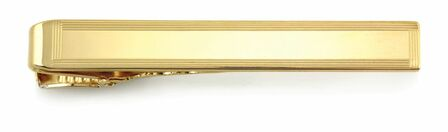Border Collection 14 Karat Gold Engravable Tie Bar
