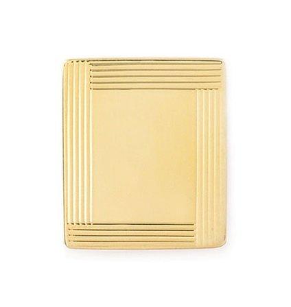 Border Collection 14 Karat Gold Engraved Tie Tack