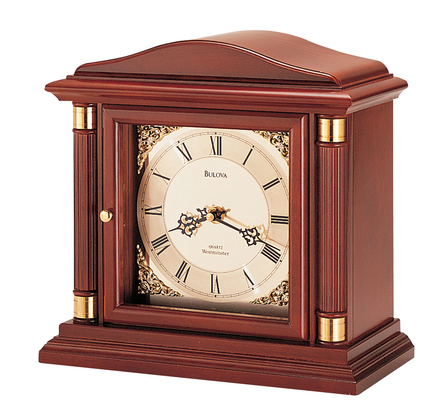 Bramley Personalized Chiming Mantel Clock by Bulova