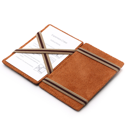 Leather Magic Wallet w/ Money Clip
