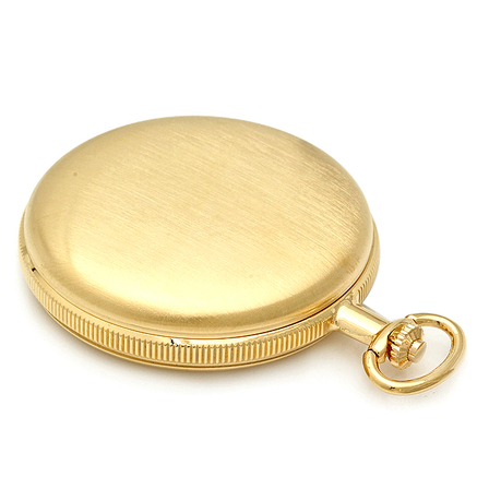Engraved Gold Mechanical Charles Hubert Pocket Watch & Chain #3789-G