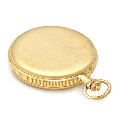 Engraved Gold Mechanical Charles Hubert Pocket Watch & Chain #3789-G