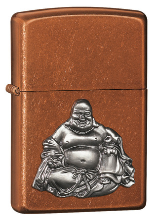 Buddha Emblem Toffee Zippo Lighter - ID# 21195 - Discontinued