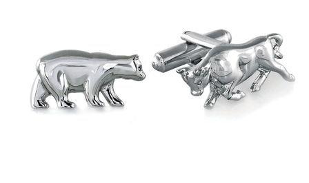 Bull & Bear Sterling Silver Cufflinks