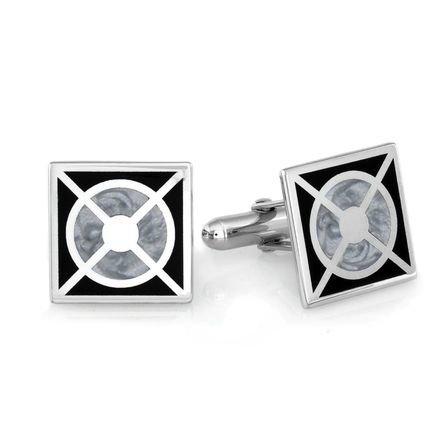 Bullseye Collection Sterling Silver Cufflinks