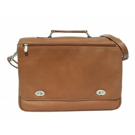 Business Flap Briefcase by Piel Leather - Free Personalization