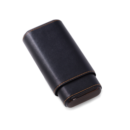 Carbon  Fiber  &  Black Leather  Cigar  Holder