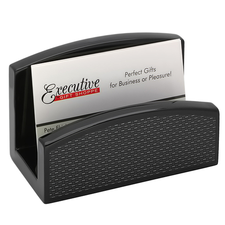 Carbon Fiber Desktop Business Card Holder