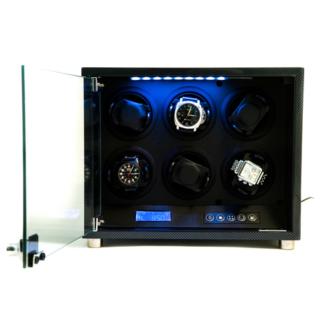 Carbon Fiber Six Watch Winder