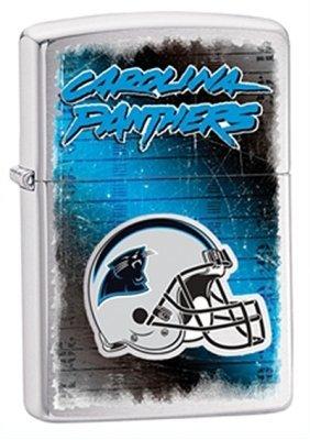 Carolina Panthers NFL Brushed Chrome Zippo Lighter - ID# 28603