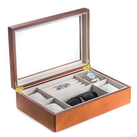 Cherry Wood Valet & Watch Box