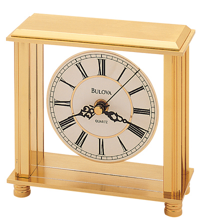 Cheryl Metal Table Clock by Bulova