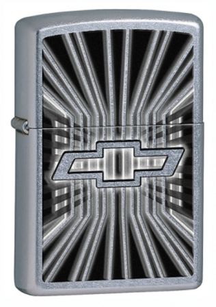 Chevy Logo Street Chrome Zippo Lighter - ID# 28260 - Discontinued