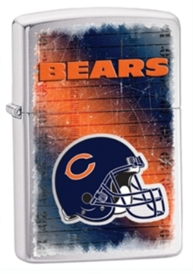 Chicago Bears NFL Brushed Chrome Zippo Lighter - ID# Z702