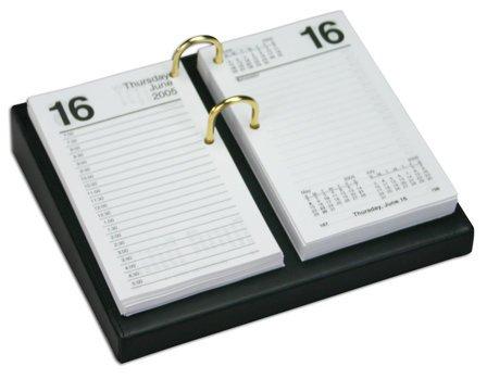 "Classic Leather 3.5"" X 6"" Desktop Calendar Holder"