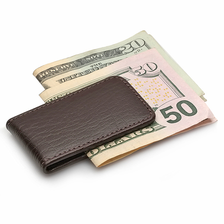 Classic Leather Personalized Magnetic Money Clip