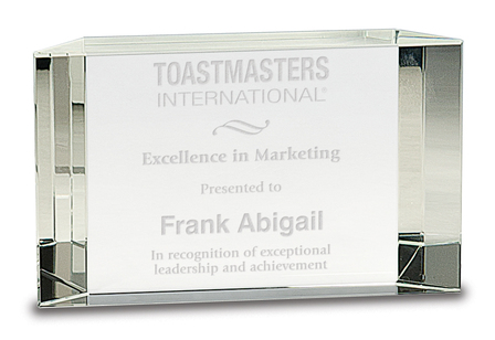 Classic Personalized Crystal Award