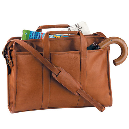 Classic Soft Sided Briefcase by Royce Leather - Free Personalization
