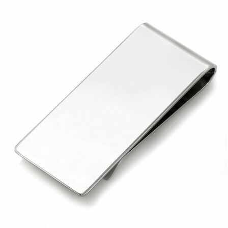 Classic Sterling Silver Engraved French Fold Money Clip