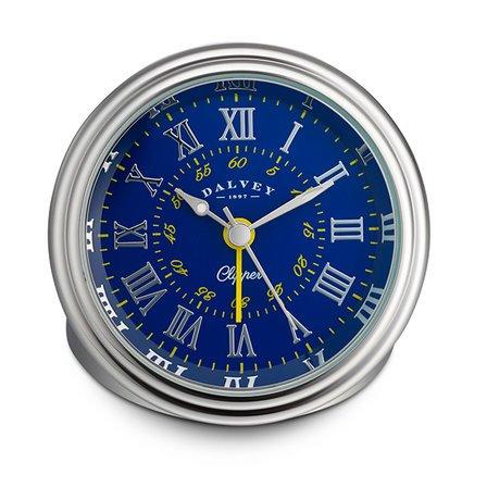 Clipper Travel Alarm Clock by Dalvey - Blue & Yellow