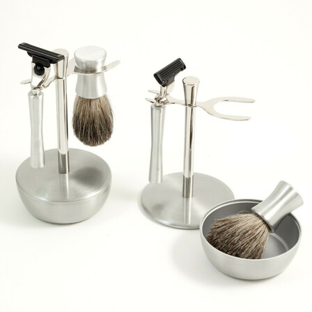 Close Shave Stainless Steel Shaving Set