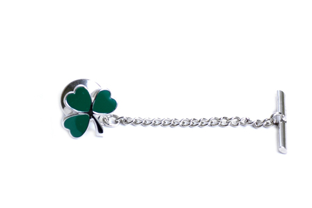 Cloverleaf Collection Sterling Silver Tie Tack