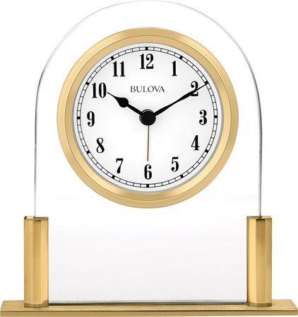 Colburn Glass Desktop Clock By Bulova