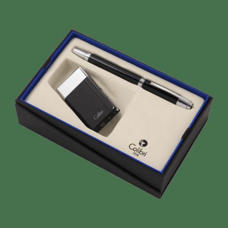 Colibri Aspire Lighter & Roller Ball Pen Gift Set - Discontinued