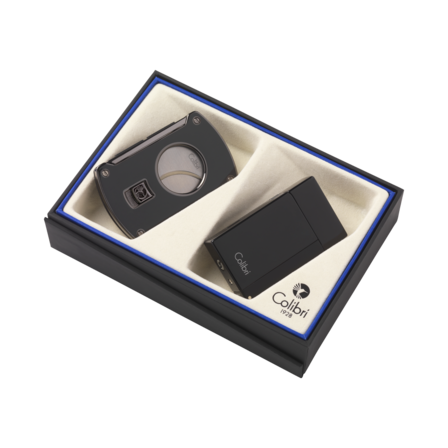Colibri Aspire Lighter & Slice Cigar Cutter Gift Set - Discontinued