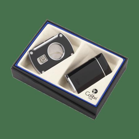 Colibri Evoke Lighter & Slice Cigar Cutter Gift Set - Discontinued