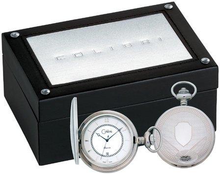 Colibri Swiss Quartz Stainless Steel Date Pocket Watch - Discontinued