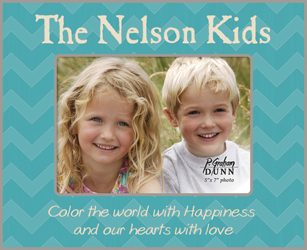"""Color The World Personalized 5"""" x 7"""" Picture Frame"""