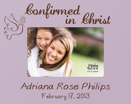 "Confirmation Personalized 4"" x 6"" Picture Frame - Discontinued"