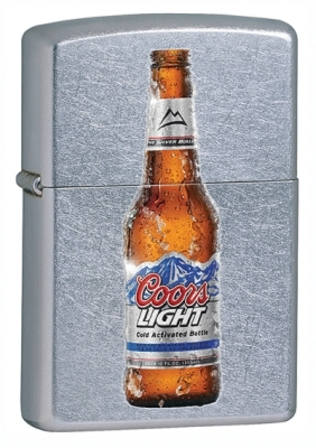 Coors Light Street Chrome Zippo Lighter - ID# 28251 - Discontinued